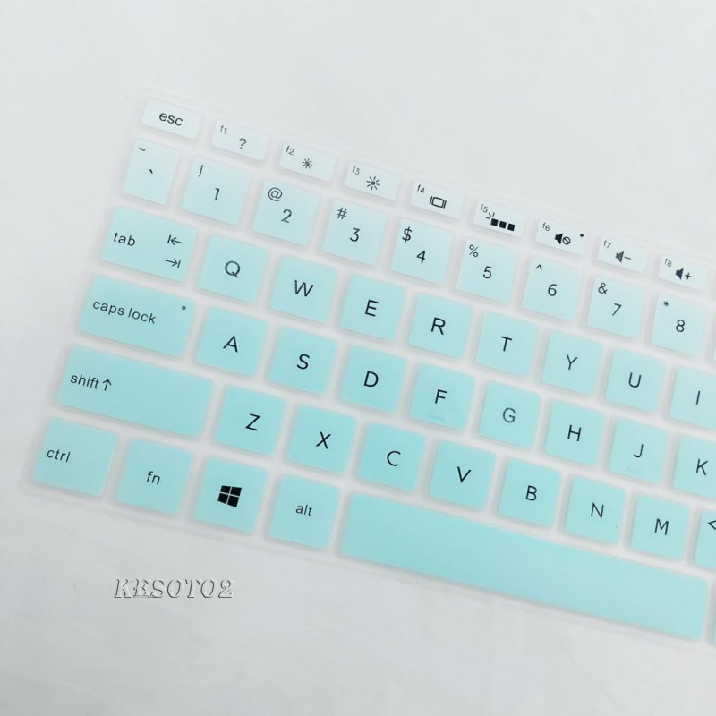 [KESOTO2] Soft Laptop Keyboard Skin Protector Cover For HP 15.6 inch BF Blue