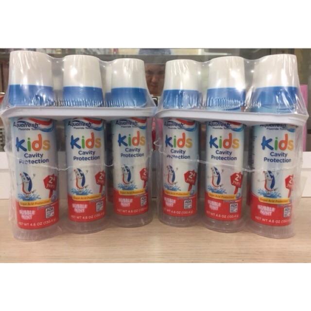 Kem đánh răng cho bé trên 2 tuổi Aquafresh Kids Cavity Protection 130,4g từ Mỹ - 3014823 , 288885462 , 322_288885462 , 120000 , Kem-danh-rang-cho-be-tren-2-tuoi-Aquafresh-Kids-Cavity-Protection-1304g-tu-My-322_288885462 , shopee.vn , Kem đánh răng cho bé trên 2 tuổi Aquafresh Kids Cavity Protection 130,4g từ Mỹ