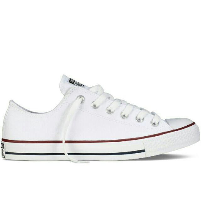 (FREESHIP -ĐƠN HÀNG-99k) Giày thể thao đủ size nam nữ màu trắng viền đỏ