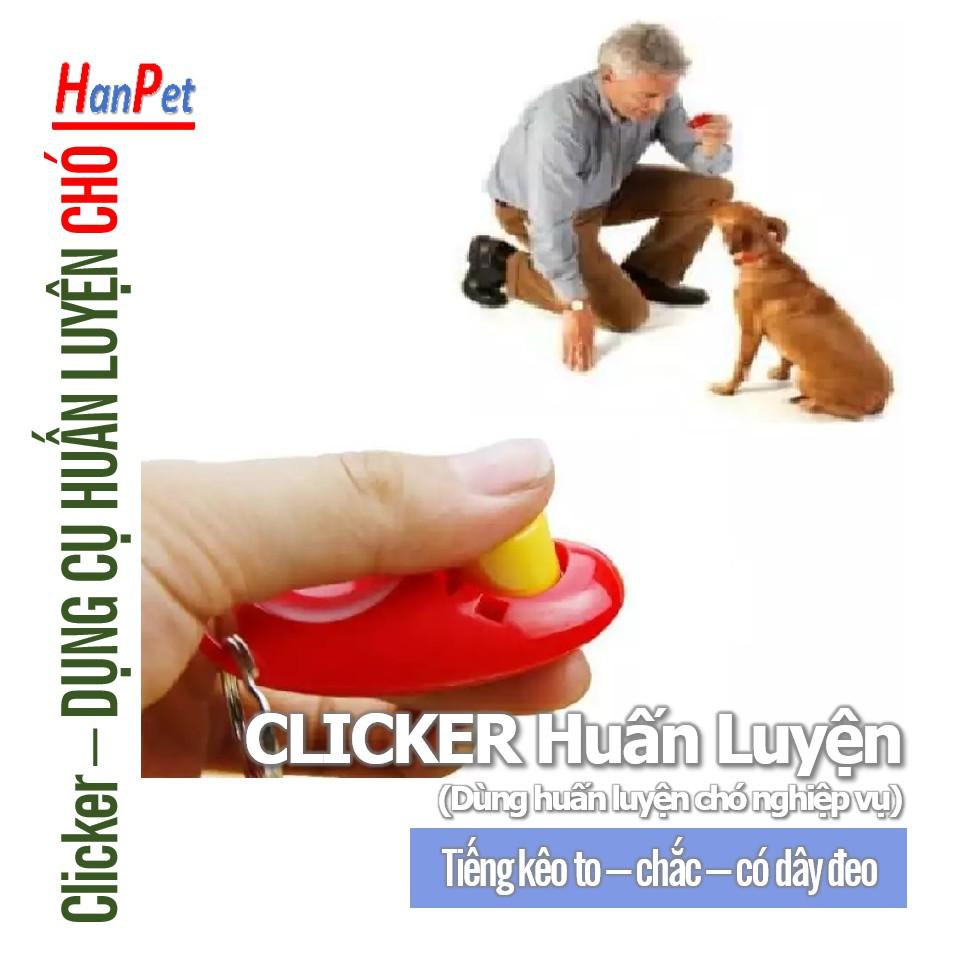 Clicker - Còi bấm huấn luyện chó nghiệp vụ chó police (Loại tốt) Cho chó làm quen với clicker rất đơn giản