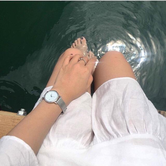Đồng hồ JIS Nữ Mặt Tròn và Mặt Vuông , Dây Thép Nhuyễn Chống Gỉ , Giá Tốt