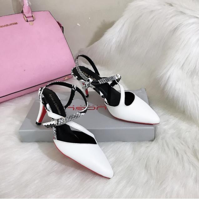 Giày Cao gót 7Cm, Giày Nữ Bít Mũi, Giày Cao Gót Form Ôm Da Lì Cực Êm Hàng Cao Cấp