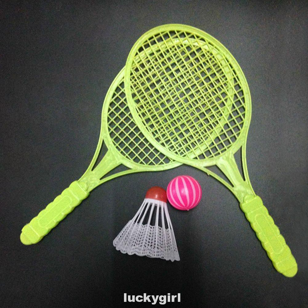 4pcs Doing Exercise Training Tennis Racket Outdoor Toy Children Gift Badminton Kit
