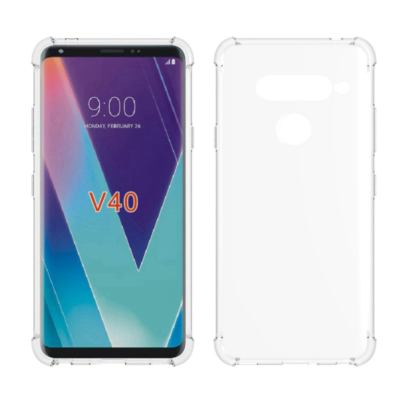 [lg v60 thinq case] HOT: Ốp điện thoại TPU silicone mềm trong suốt chống rơi vỡ cho LG V20 mini/Q8 V9 V30/V30S V40 V50 V60 ThinQ …
