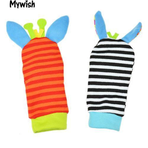 🏆Infant Kids Foot Socks Rattles finders Glove New Toy Developmental