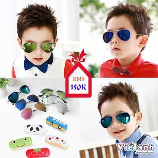 Kính trẻ em thời trang style Hàn Quốc, kính tráng gương cho bé trai và gái chính hãng Kocotree KM9 ( ẢNH THẬT )
