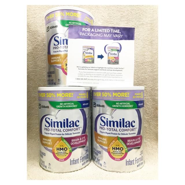 [Hàng Mỹ] Sữa Similac Comfort Total 1.02kg cho trẻ tiêu hoá kém.