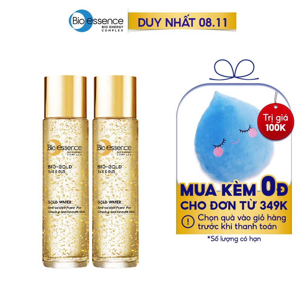 [Mã COSMALL11 -10% ĐH 250K]Combo 2 Nước dưỡng ngăn ngừa lão hóa vàng 24k Bio-Gold Bio-Essence 150ml/chai