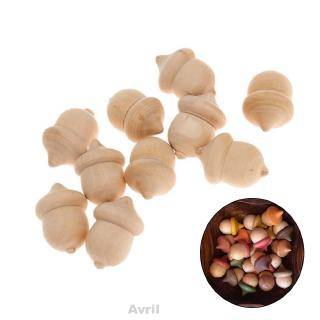 10pcs/set Wooden Acorns Wood Craft Party Decor Unfinished Wedding Decoration Novelty Ornaments