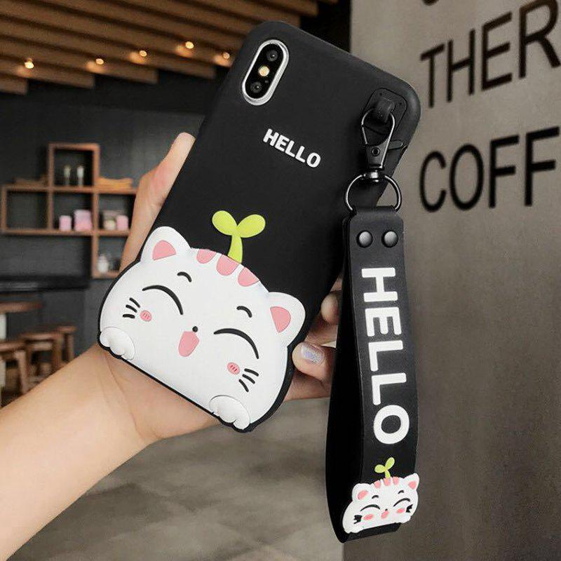 OPPO R9,R9S,R9+,R9S+,A39,A57 Cat Silicone Phone Case