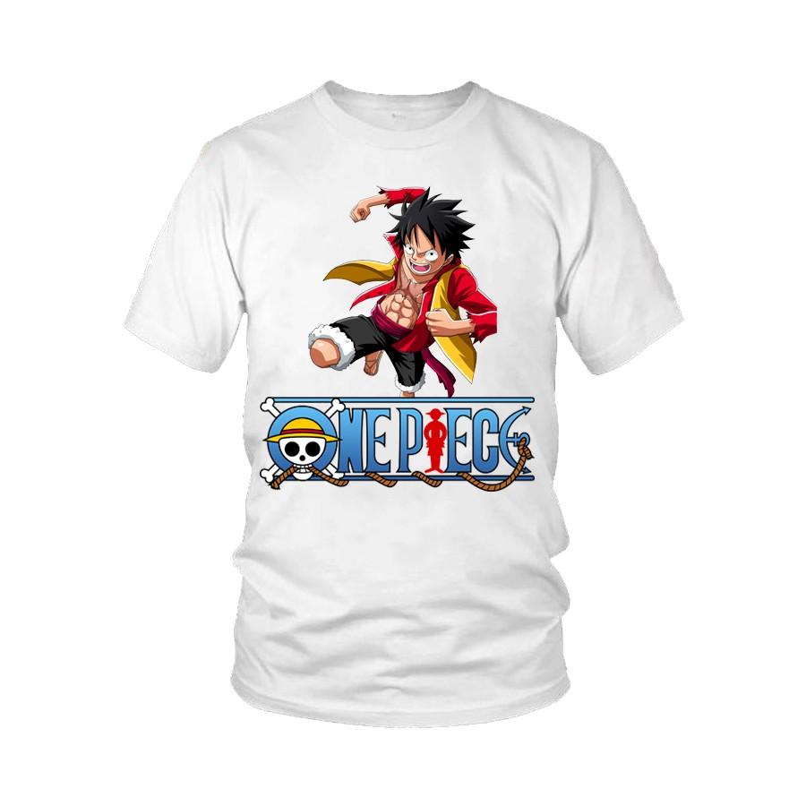 Áo thun One Piece in hình Luffy giá rẻ M13(7 Màu)