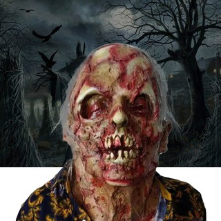 【FS】Horror Rotten zombie devil skull cover Bloody Zombie Mask