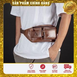 Túi đeo chéo , túi đeo bụng da bò thật da chống chày xước nước uốn nén đàn hồi bền bỉ , túi chứa điện thoại sạc pin