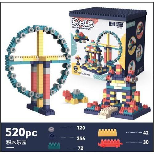 Bộ lắp ráp Lego giá rẻ FreeshipLego mobile Xếp Hình Nhật Bản, Lego city Hộp 520 Chi Tiết Cho Bé