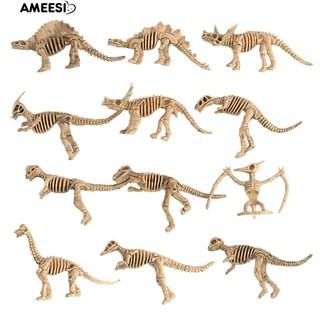 Ameesi 12Pcs Dinosaur Skeleton Figures Set Simulation Model Kids Toys Christmas