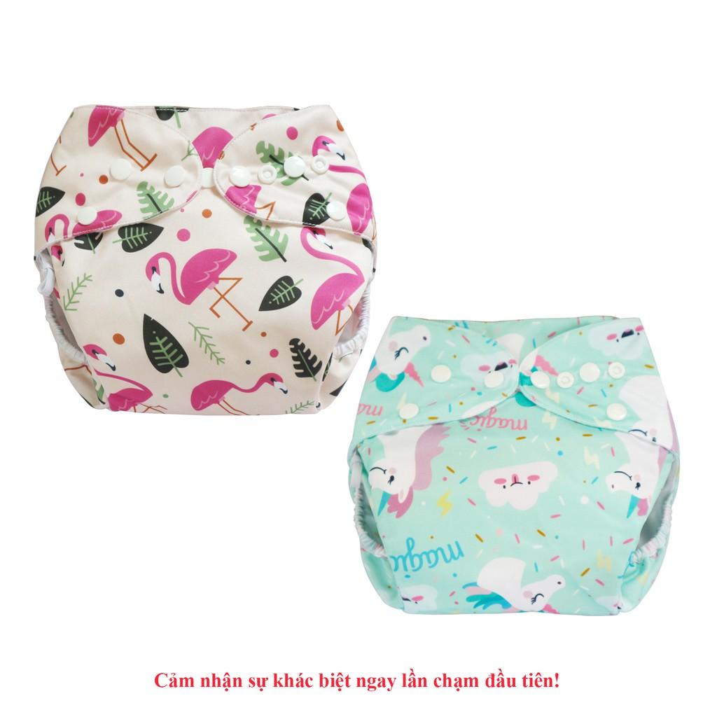 Combo 2 bộ tã vải Ngày Siêu chống tràn BabyCute size M (8-16kg) - Giao mẫu ngẫu