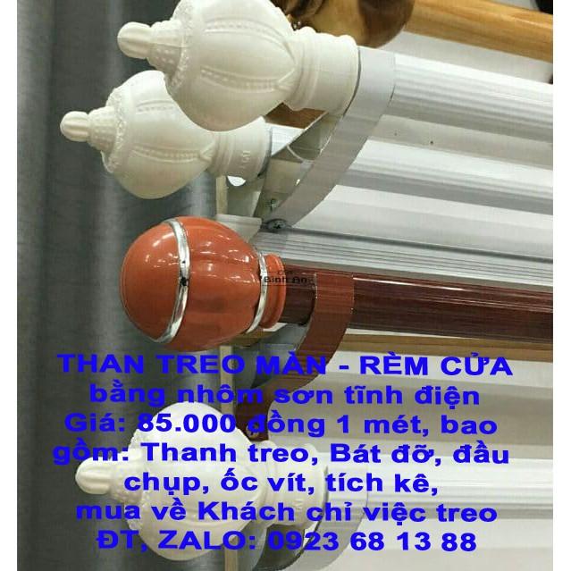 COMBO THANH TREO MÀN - RÈM CỬA CÁC LOẠI DÀI 1M60