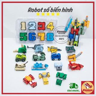 Robot số và dấu biến hình người máy bằng nhựa ABS thumbnail