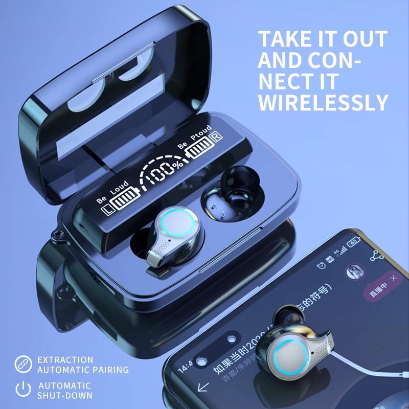 Tai Nghe Không Dây Vitog M9-18 Kết Nối Bluetooth Giảm Tiếng Ồn 9D 2000mah Chạm Cảm Ứng Giảm Tiếng Ồn 9D Chống Thấm Nước