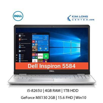 Laptop Dell Inspiron 5584 : i5-8265U | 4GB RAM | 1TB HDD | GeForce MX130 2GB | 15.6 FHD | Win10 | Silver Hàng Nhập Khẩu