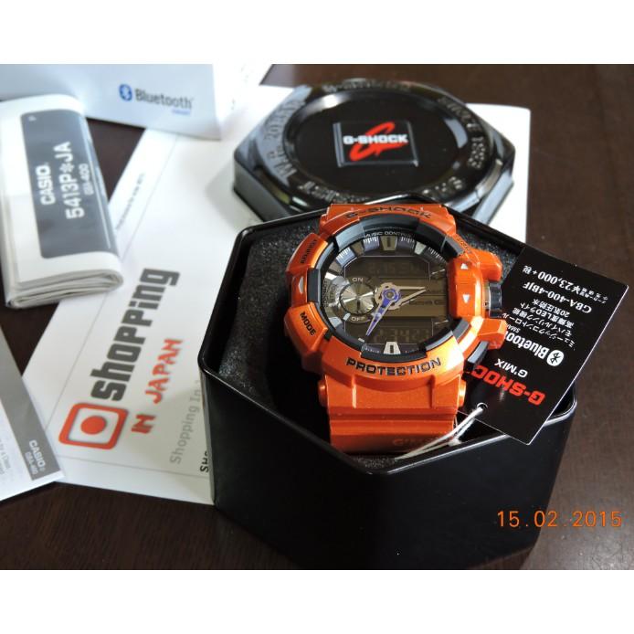 Đồng hồ nam Casio G-SHOCK GBA-400-4BDR Chính hãng - Bluetooth - Chống nước tuyệt đối