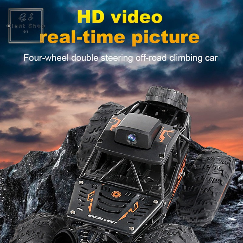 RC Cars Remote Control with Camera 2.4G Buggy Off-Road Trucks Toys for Children High Speed Climbing Mini RC Car