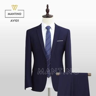 [Nhập mã MAN1015 giảm 15%] Bộ Vest Xanh Tím Than AV101 – MANTINO