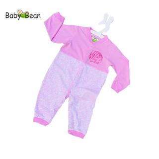 Bộ Bodysuit Dài Giữ Ấm Bé Gái Sơ Sinh Baby Bean