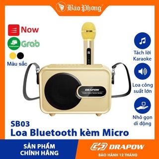 Loa Bluetooth Drapow SB03 kèm Mic