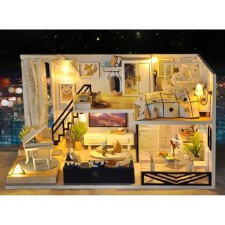 Mô hình nhà búp bê gỗ – Light Shadow of Time – biệt thự cỡ lớn với đầy đủ tiện nghi siêu đẹp