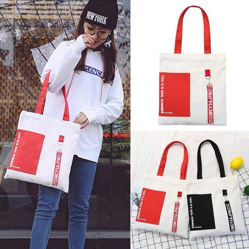 Túi đeo chéo canvas Hàn Quốc phối màu tương phản