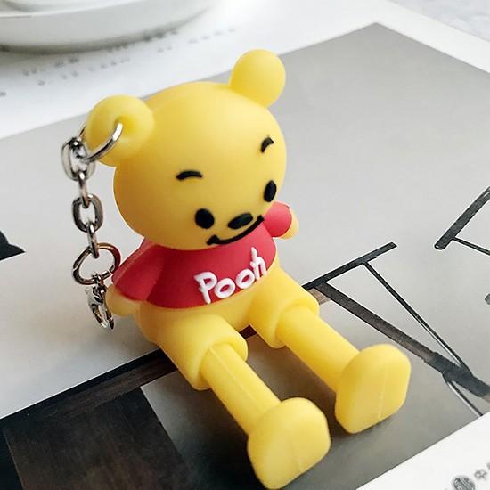 Đế Đỡ Điện Thoại Hình Thú Ngộ Nghĩnh Gấu Pooh lalafanfan gấu brown doraemon giá đỡ điện thoại kèm móc khoá