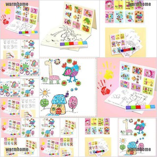 warmhome 8Pcs Cute Kid Finger Painting Craft Set Child Colorful Fingerpaint Drawing Toy thro