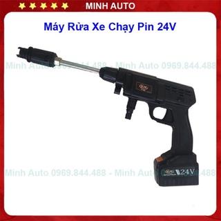 Máy Rửa Xe – Máy Rửa Xe Mini – Chạy Pin 24V- 200W, Áp Lực Cao, Tặng bình Tạo Bọt CT167A