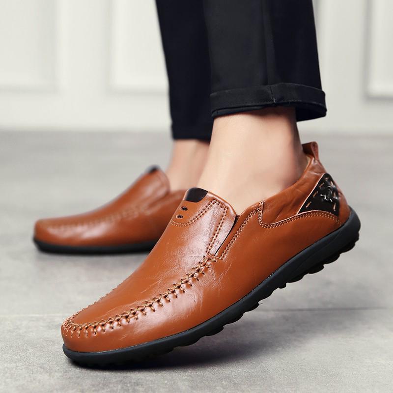 Giày lười da thời trang cho nam