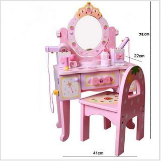 Bộ bàn ghế trang điểm gỗ Mother Garden bé gái