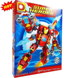 Bộ Lego Xếp Hình Ninjago Super Heroes Marvel – Iron Man. Gồm 255 Chi Tiết. Lego Ninjago Lắp Ráp Đồ Chơi Cho Bé.