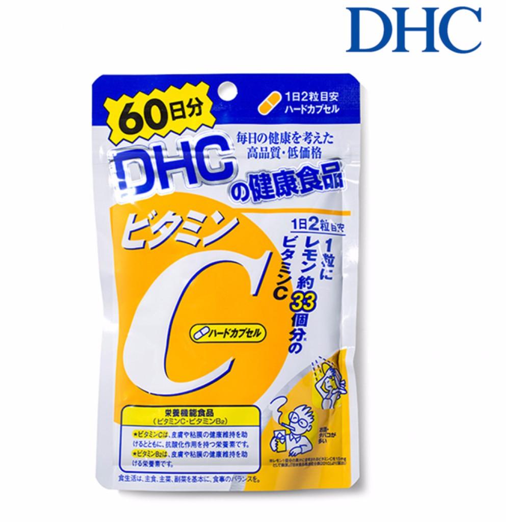 ( có bill ) Viên uống bổ sung Vitamin C DHC gói 60 ngày 120 viên Nhật Bản