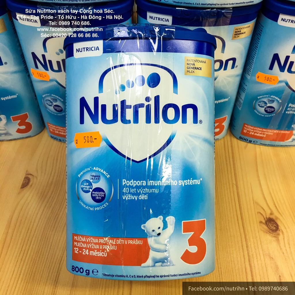 Sữa Nutrilon Số 3 Séc Vị Thường 800g, Date từ 06-2020.
