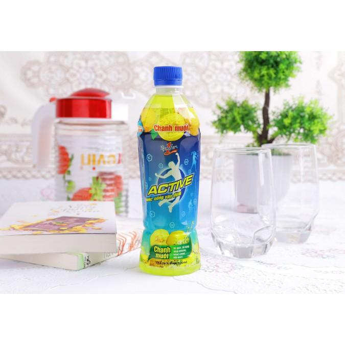 Nước uống vận động vị chanh muối Active chai 500ml