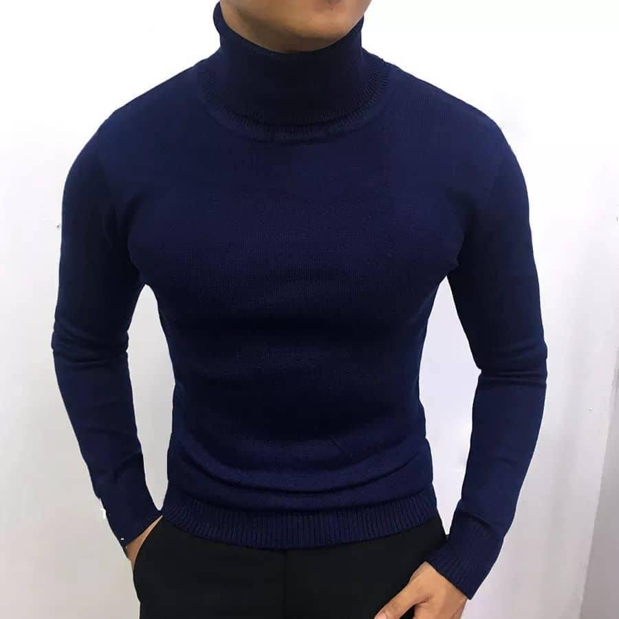 Áo len nam cổ lọ thời trang  nhiều màu (48-70kg)