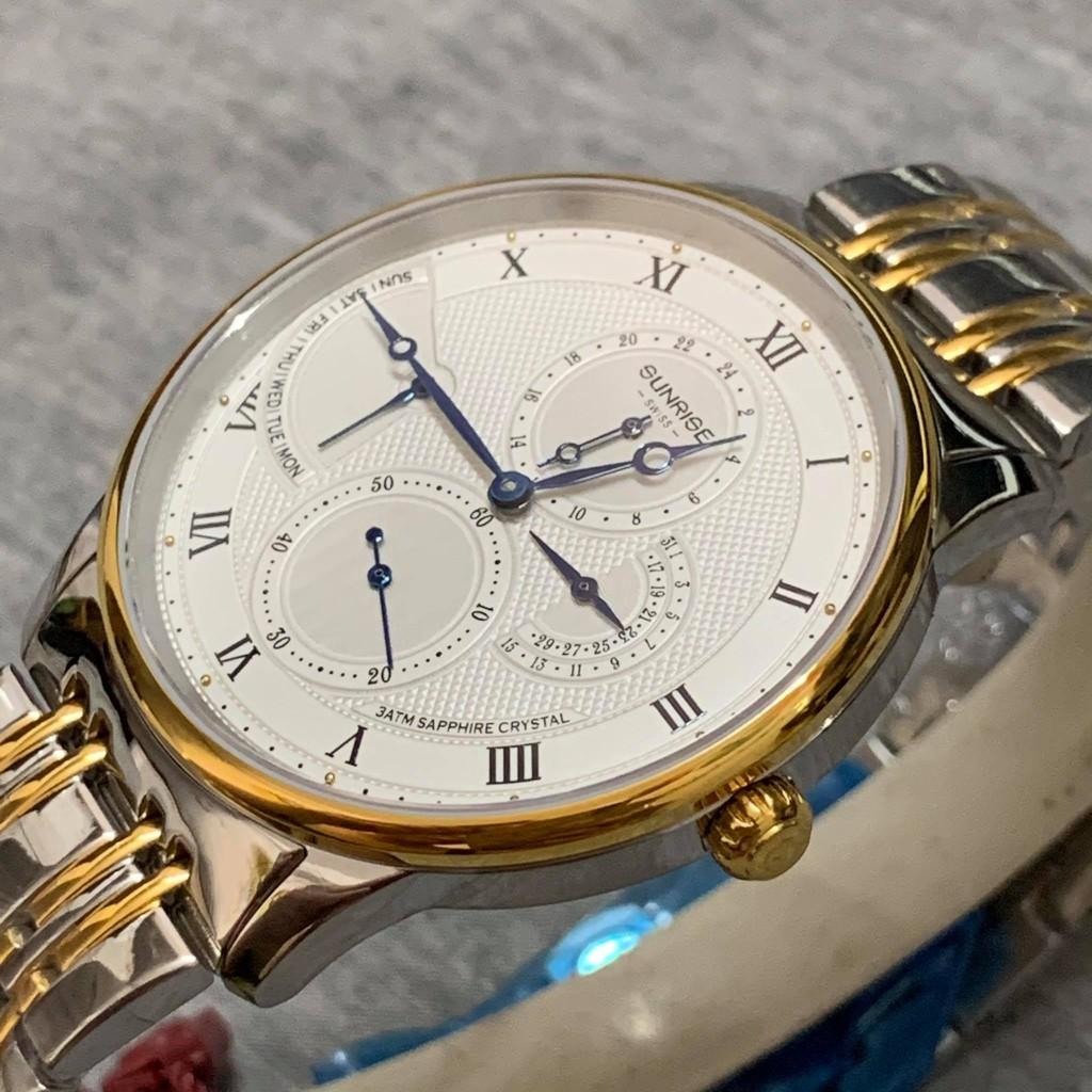 Đồng hồ Sunrise nam chính hãng Nhật Bản M1134SA.SG.T - kính saphire chống trầy - chạ