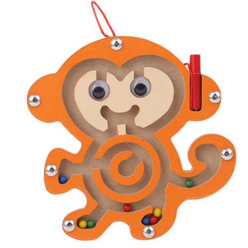 Magnetic Maze Beads Wooden Educational Toys Small Animal Maze