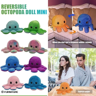 Octopoda doll double-sided flip octopus plush toy doll marine life doll FURNITURE