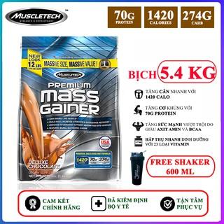 Sữa tăng cân tăng cơ cao cấp Premium Mass Gainer của Muscle Tech hương Chocolate bịch 5.45 kg – Phân phối chính hãng