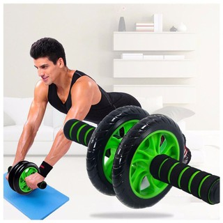 Máy tập cơ bụng hình bánh xe, con lăn hỗ trợ săn chắc cơ thể toàn diện