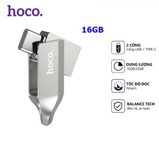 USB Hoco UD8 16GB Tốc Độ Cao 2 Đầu USB + Type C