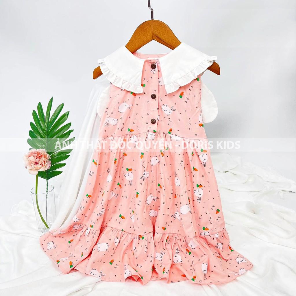Mặc gì đẹp: Sang chảnh với Đầm Bé Gái Họa Tiết Thỏ Phối Cổ Tai Thỏ Đáng Yêu Doris Kids.