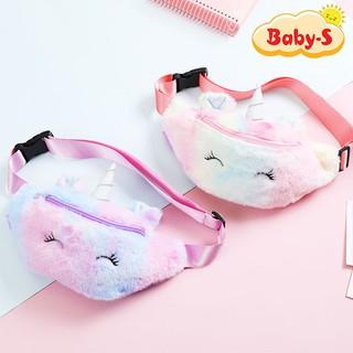 Túi bao tử Unicorn cho bé gái hình bằng bông mềm mịn cá tính đáng yêu Baby-S STX025 thumbnail