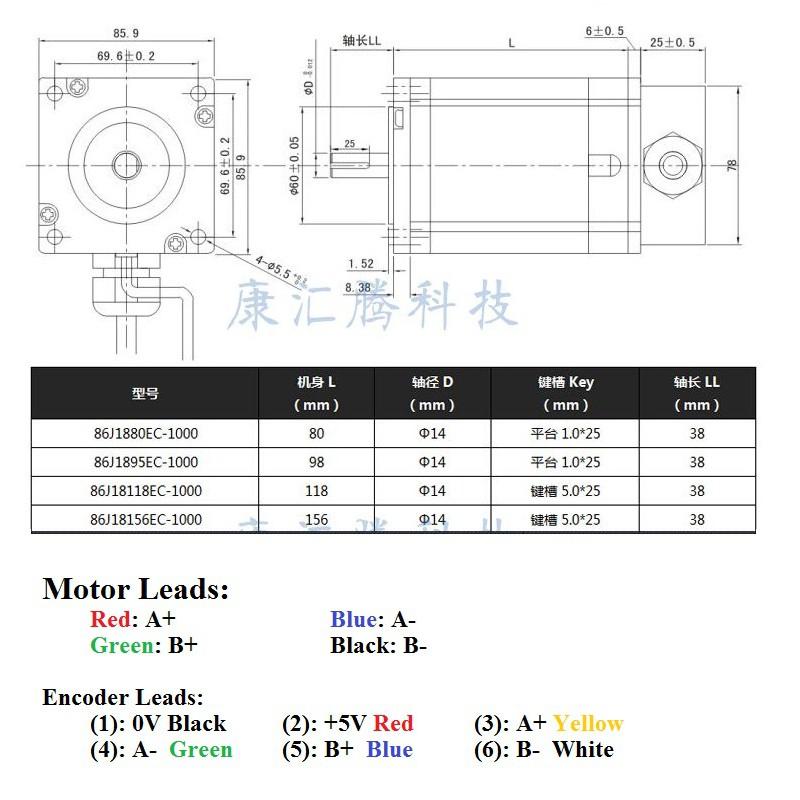 Bộ động cơ Hybrid Servo JMC 12Nm 86J18156EC-1000 và Driver 2HSS86H ...